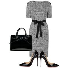 Nice and conservative but still stylish. Heels are a bit high though. Office Fashion, Business Fashion, Work Fashion, Fashion Looks, Classy Outfits, Chic Outfits, Fashion Outfits, Fashion Trends, Fashion Moda
