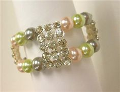 Michaels Craft Project Bead Landing Crystal Slider Pearl Bracelet Ring
