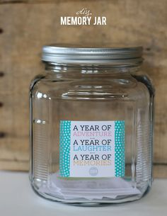 DIY Memory Jar - A year of adventure, laughter and memories