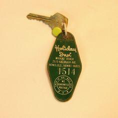 Waikiki Beach Holiday Inn motel vintage brass by TheProjectPlace. $12.00, via Etsy.