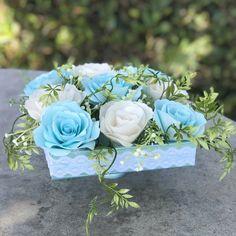 e2dacf9e24 Centerpiece using paper roses - Wedding table decor - Colors are  customizable