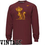 Nike Minnesota Golden Gophers Vault Vintage Heathered Long Sleeve T-Shirt - Maroon