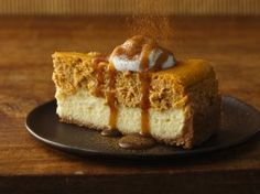Pumpkin Cheesecake with Caramel Sauce | Holiday Cottage