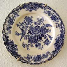 Antique blue plate pattern