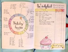 Birthday tracker in my bullet journal