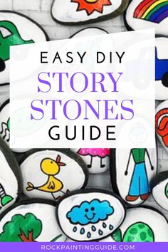 What's Inside: What are Story Stones? How to Make and Use them, the Benefits your kids will gain and 20 rock painting ideas for story stones!