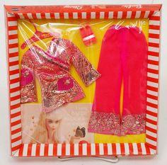 ~~ MINT Vintage Barbie BRIGHT N BROCADE Set #1786 (1970) Mod Outfit (NRFB MIB)