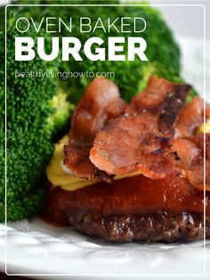 Oven Baked Burger | healthylivinghowto.com