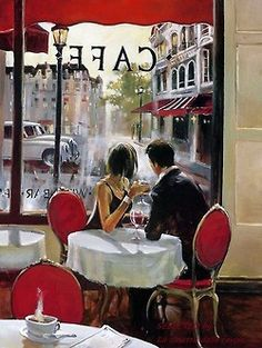 In a Paris cafe.....