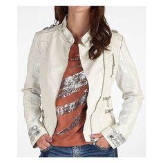 BKE Asymmetrical Zip-Up Jacket found on Polyvore