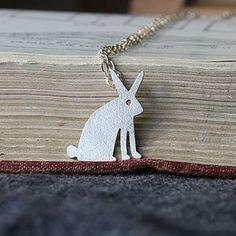 Handmade Silver Bunny Rabbit Necklace