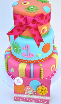 Candy themed cake