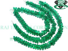AAA Quality Drops Faceted Beads In Green Onyx Beads, to mm, 18 cm, Semiprecious Gemstone Beads Semi Precious Beads, Semi Precious Gemstones, Bead Store, Green Onyx, Gemstone Beads, Unique Jewelry, Beadwork, Handmade, Etsy
