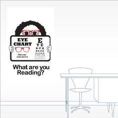 Does your eye doctor promote reading? Here is a fun eye chart for your Optometrist's office. Wall decal and notecards are available on Cafepress.com at /DesignClass Eye Chart, Eye Doctor, Note Cards, Wall Decals, Reading, Big, Index Cards, Eye Pattern, Word Reading