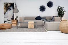 Nolan - Hoekbank - Grijs - Sofa, Couch, Living Room Decor, Modern, Furniture, Design, Indigo, Home Decor, Everything