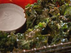 Get Crispy Lemon Garlic Kale Chips Recipe from Food Network