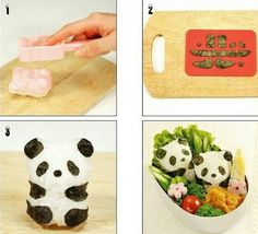 Make Tiny Pandas For Your Bento Lunch With This Mold