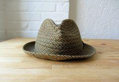0430b4de7e9 1950s plaid hat . vintage fedora . 50s 60s mens hat by BlueFennel
