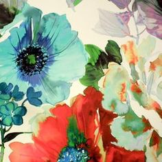 swatch of Garden Wallpaper Poppy