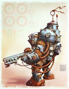 Arte Robot, Robot Art, Character Concept, Character Art, Character Design, Robots Characters, Fantasy Characters, Captain America Poster, Bioshock Art