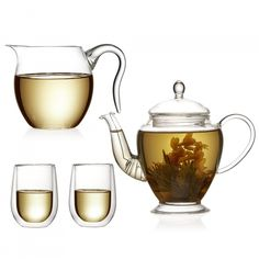 This tea for 2 set includes a glass teapot, tea pitcher and 2 x tea glasses. This is the perfect set for enjoying flowering tea and loose leaf teas. Tea Gift Sets, Tea Gifts, Tea Pitcher, Glass Teapot, Tea Glasses, Flower Tea, Loose Leaf Tea, Tea Favors