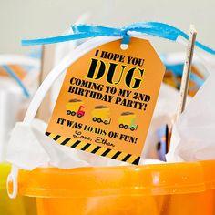 Construction Birthday Party   DIY by ThePrettyPartyShoppe on Etsy, $6.50