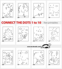 20 Connect the Dots 110 Connect the Dots 20 Connect the Dots Connet the Dots and Have Fun Preschool Kindergarten, Preschool Worksheets, Math Numbers, Letters And Numbers, Math For Kids, Activities For Kids, Connect The Dots, Homeschool Math, Le Point
