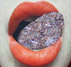 "3,820 Me gusta, 33 comentarios - Sara Shakeel (@sarashakeel) en Instagram: ""Rich talk . CollageArt.SaraShakeel . . #art #artist #collageart #diamond #tongue"""
