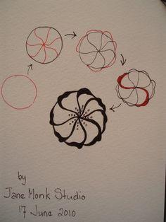 Tangle by Certified Zentangle Teacher Jane Monk