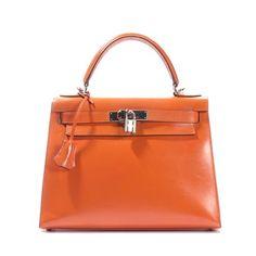 860f1f8cc8cf Hermes Orange Box Calf Leather 28cm Kelly #porteropintowin Hermes Kelly Bag,  Hermes Orange,