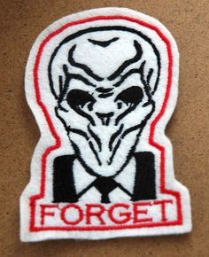 The Silence Doctor Who Felt Patch Cosplay on Etsy, $10.00