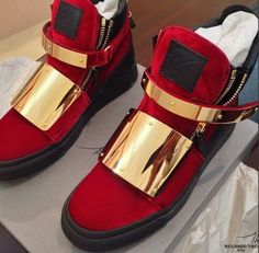 Givenchy Sneakers Red w/Gold Accents