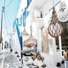 You will discover all sorts of shops walking in Mykonos @chora_mykonos (: @dimimathiou)