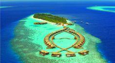 泊ってみたいホテル・HOTEL モルディブ>長さ600m、幅110mの南アリ環礁の島に位置し、マーレ国際空港から水上飛行機で25分>リリー ビーチ リゾート & スパ(Lily Beach Resort and Spa)