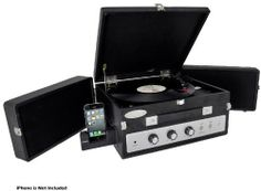 Pyle-Home PLTTB8UI Classical Vinyl Turntable Player with PC Record, iPod Player, AUX Input and Dual Fold-Out Speaker System by Pyle. $165.84. From the Manufacturer                  Classic Vinyl Record Player Click here for a larger image   Connect Your iPod and Get the Best of Analog and Digital Technologies Click here for a larger image   Suitcase Style Sound Click here for a larger image   Clean and Streamline Control Center Click here for a larger image    Connec...