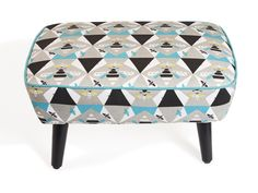 JANE FROST FOOTSTOOL - RECTANGLE  http://www.thequintessential.co.uk/jane-frost-footstool-rectangle/
