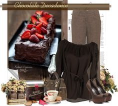 """""""Chocolate Decadence"""" by thanna2029 ❤ liked on Polyvore"""