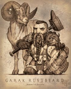 m Dwarf Paladin Plate Armor Shield WarHammer Pouch male Mountain Goat Mount companion Garak Rustbeard med Dungeons And Dragons Board, Dungeons And Dragons Characters, Dnd Characters, Fantasy Characters, Dwarf Paladin, Tiefling Paladin, Character Creation, Character Concept, Character Art