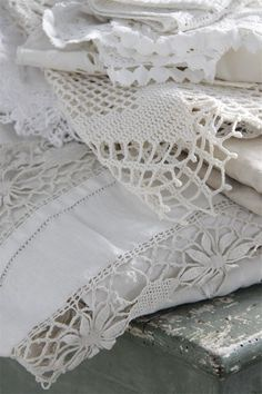 White linen and lace