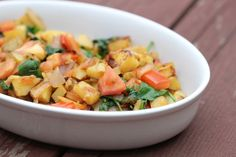 This traditional Samali dish is typically eaten in the morning with canjeero or rooti, forms of bread, but can be eaten anytime as a nutritious side dish!