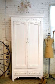 RESERVEPainted Cottage Chic Shabby White by paintedcottages, $495.00