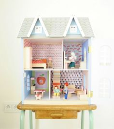 beautiful and still somewhat simple dollhouse