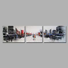 【今だけ☆送料無料】 アートパネル  自然・風景画1枚で1セット パース 商店街 ストリート 大都会【納期】お取り寄せ2~3週間前後で発送予定