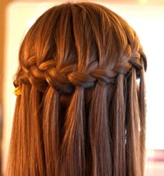 Waterfall Braid Hairstyle Classic Waterfall Braid for Women Hair womens hairstyles | hairstyles