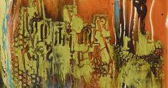 "Mixed Media Abstract Painting ""Tuscan Hills"" by Santa Fe Contemporary Artist Sandra Duran Wilson"