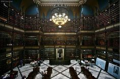 The national library of Brazil, Rio de Janeiro, Brazil. Was established in 1810, and today it ranks 7th in the list of the largest libraries in the world. The collection contains more than 9 million books, photos, manuscripts, maps.