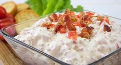 BLT Dip: A true original and a real crowd pleaser!  Here's an easy, savory dip with all the flavor of that oh-so-famous sandwich!