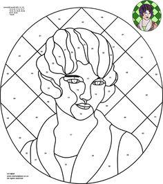 Трафареты, эскизы и шаблоны витражей — Искусство цветного стекла Vit-Mar — Дама