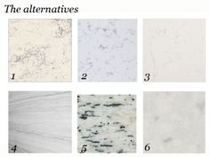 Blog:  Alternatives to White Marble Countertops