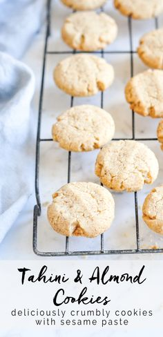 Tahini Cookies. Recipe with step-by-step photos. #tahini #tahinicookies #cookies